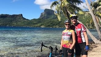 Terry Cycling Gear - Cindy rocks the Terry Breakaway Mesh in Moulin Rouge, on Bora Bora