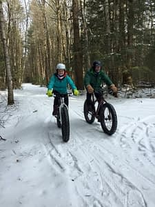 Terry staff Hitting the winter trails on a Fat Bike