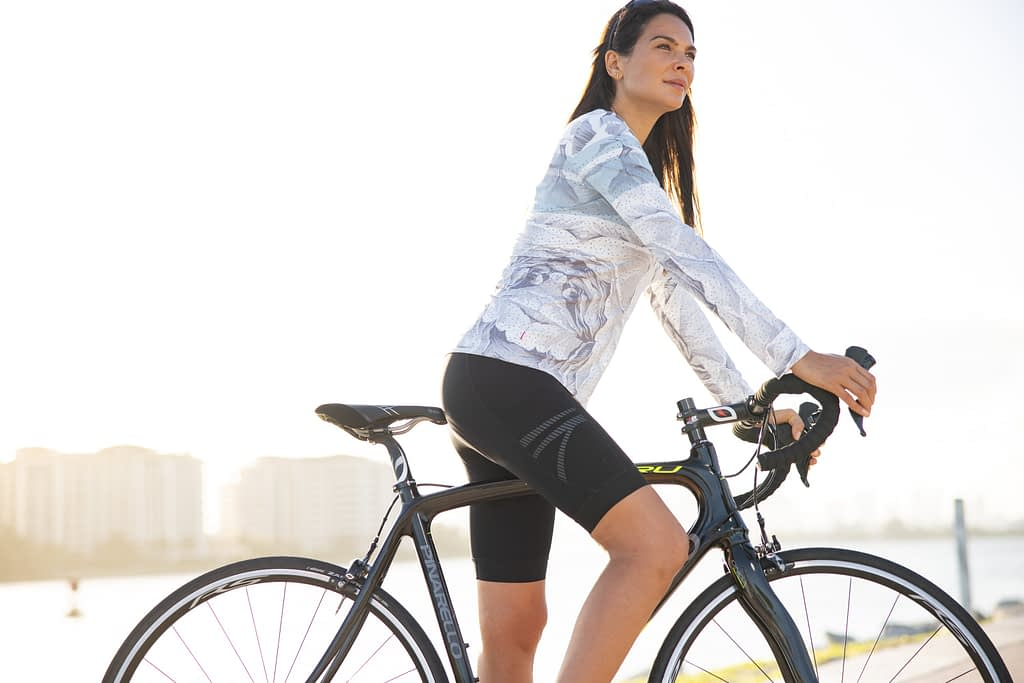Soleil LS in Blanche with Terry Power Bike Short