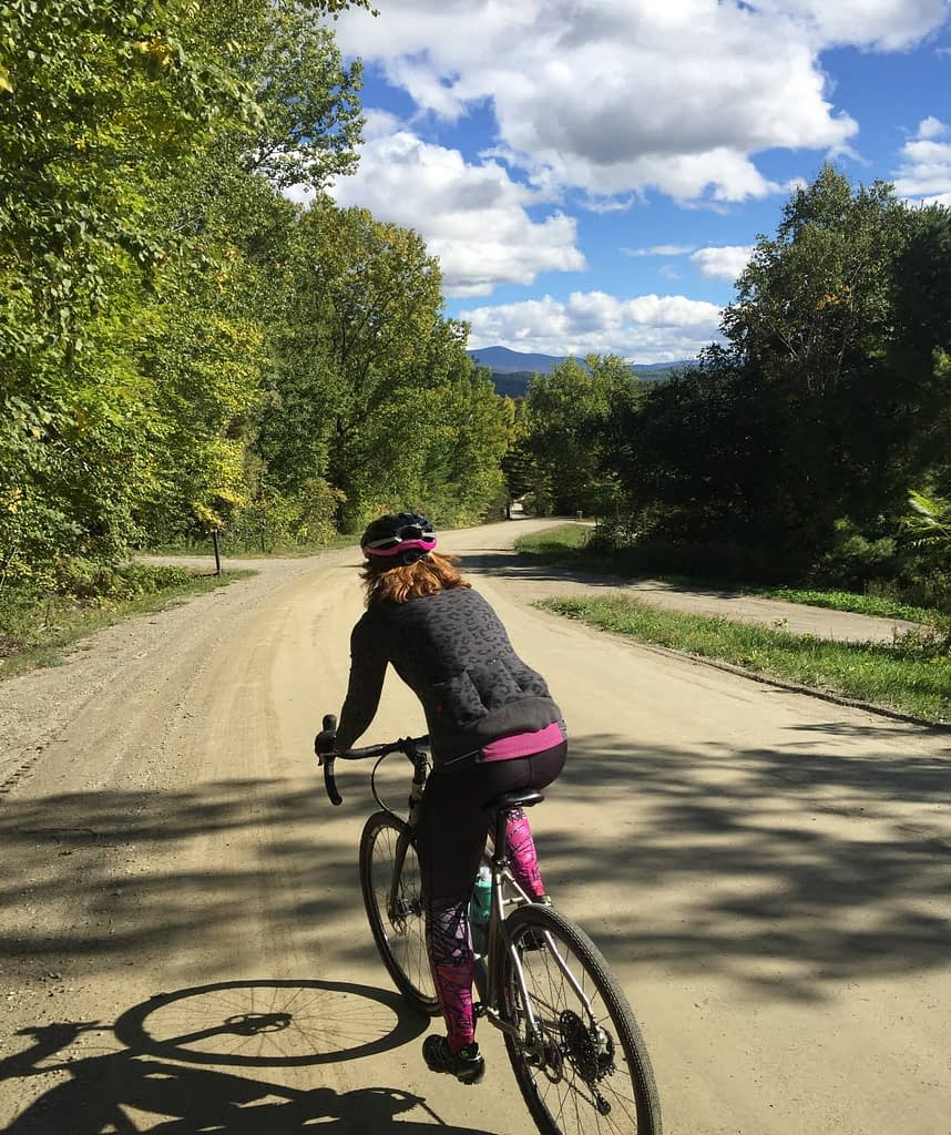 Terry Psychlo women's cycling tight Standing out on Shaker Mountain Starksboro Vermont