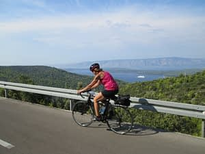 What to pack for a cycling tour - Jeannette rocks Terry in Croatia