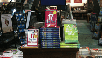 Self help books on sale in a bookstore