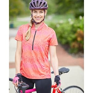 Actif short sleeve cycling jersey with sun protection fabric