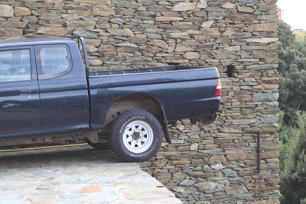 Creative parking in Corsica
