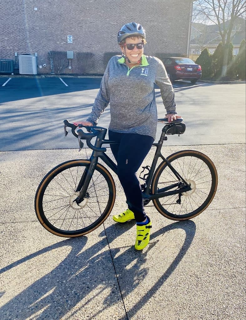 Yvonne extending the cycling season with Terry Powerstretch Cycling Tights