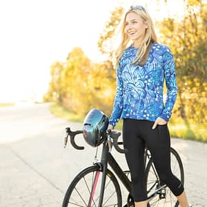 soleil long sleeve flow top for great sun protection