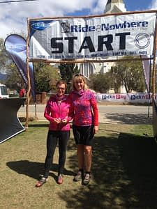 Anthea & Inge do the Ride to Nowhere in South Africa.