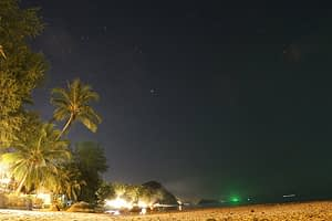 Starry night over the beach, Kho Phangan Thailand