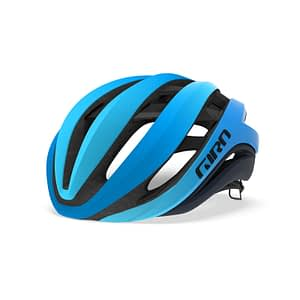 Silhouetted photo of the Giro Aether MIPS bike helmet for women