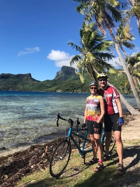 Terry Cycling Gear - Cindy rocks the Terry Breakaway Mesh in Notre Dame, on Bora Bora