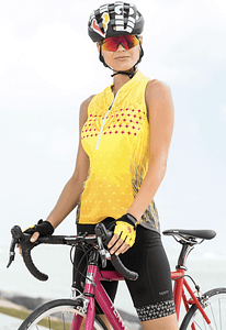 Terry Sun Goddess cycling jersey for bike to work clothing