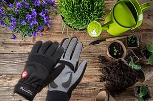 Terry full finger cycling gloves, double as new favorite gardening gloves