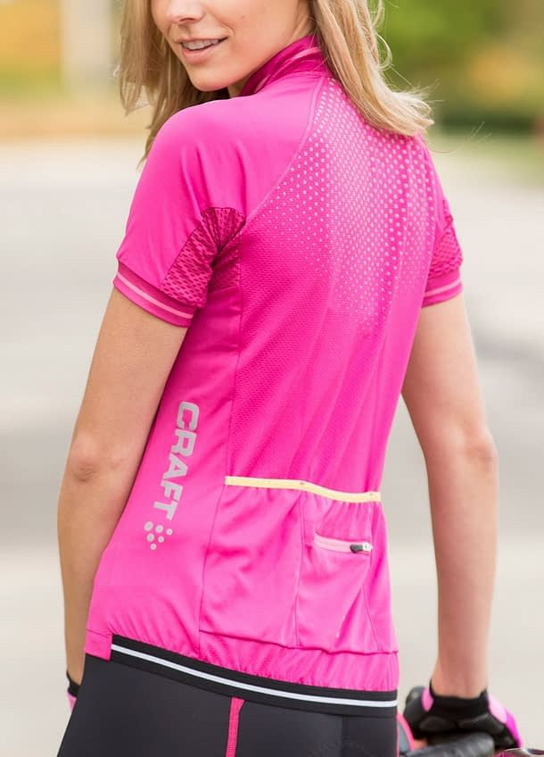 Glow Jersey with reflective dots printed on front and rear upper torso.